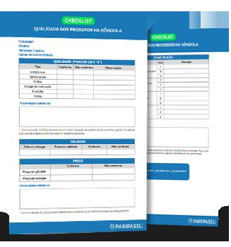 Checklist qualidade produto na gondola