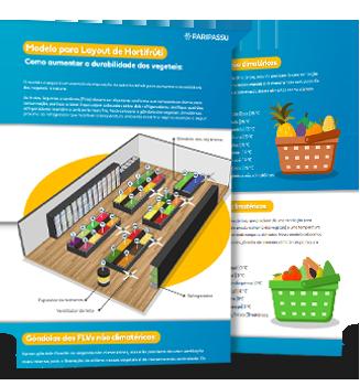 Infográfico Modelo para Layout de hortifrúti